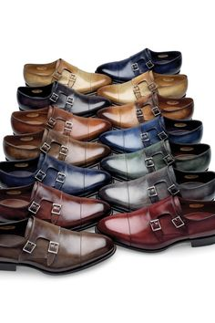 All the monks are in the Monastery. Santoni shoes for men.