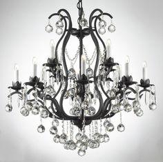Black Crystal Chandelier  http://www.modernlamps.info/black-crystal-chandelier/ #Black, #Chandelier, #Crystal