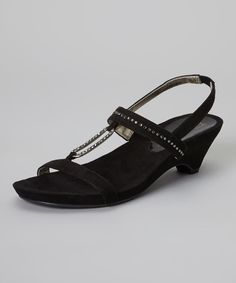 Take a look at the Anne Klein Black Tressa Sandal on #zulily today!