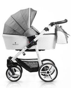 Baby Boom 2000 - Venicci 3 in1 Travel System Pure White Frame Denim Grey 264bc9bc978a5