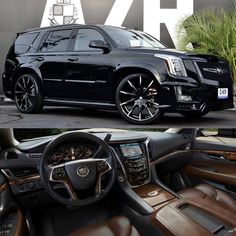 "40k Likes, 461 Comments - Kik:SoLeimanRT (@carinstagram) on Instagram: ""Blacked out Escalade on 26"" @lexaniofficial wheels  #lexani #cadillac #escalade #customwheels…"""