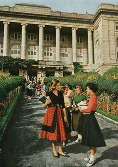 ABD de bir Üniversite ve bahçesi değil... Yıl 1958-59... Robert Kolej...Arnavutköy...