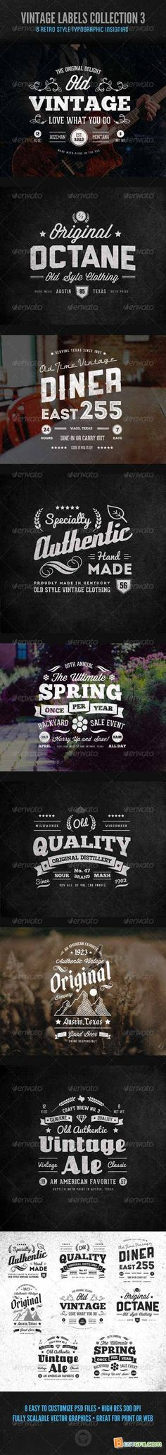 Graphicriver Vintage Labels and Logos Collection 3 7200643