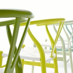citrus series wishbone chairs by hans wedner