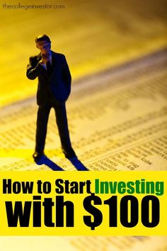 You can start investing with $100 if you plan out your investments by opening the right account with zero minimums and low commissions, and investing well. http://thecollegeinvestor.com/16432/can-you-start-investing-with-100/