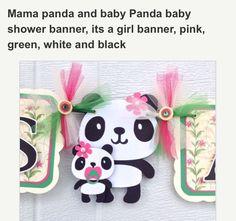 Momma & baby banner for baby shower