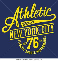 Athletic sport New York typography, t-shirt graphics, vectors