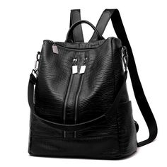 ed0801a618a23 The new 2017 ms leisure travel backpack Female bag large capacity backpack  Double zipper soft pu bag -in Backpacks from Luggage   Bags on  Aliexpress.com ...