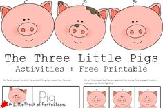 The 3 Little Pigs Activities + Free Printables | A Little Pinch of ...