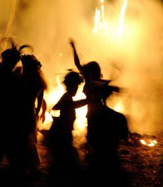 #Yellow #Magic   #bonfire #dance