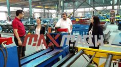 A famous Argentina industry leader, is in our factory checking their new machines--H-beam welding machine prior to shipment. Our first machines folder and slitter machine are functioning well in their factory which gave them the confidence to work more with us. And it boosts our confidence as well. Hope we can help them even more in the future, as we always believe, we succeed only when our clients do! http://www.m-rollformingmachine.com/folder-and-slitter-machine…