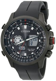 Citizen Eco-Drive Men's Promaster Analog-Digital Watch With Black Silicone Band (Model: JZ1065-13E)
