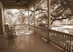 southern porches pictures | Cozy Southern Porch Greeting Card by Carol Groenen