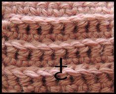 Curso Básico de Crochet : Punto Bajo tomado por la parte de atras