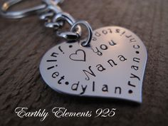 NANA Brag Keychain made of a Stainless Steel by earthlyelements925, $14.00
