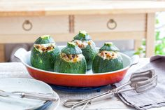 Zucchine tonde ripiene, 4 ricette