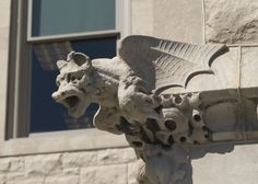 Northern Illinois University Griffin grotesque, Altgeld hall. Photo courtesy NIU Public Affairs.