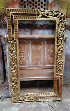 Tv Unit Furniture Design, Wood Bed Design, Dressing Table Design, Islamic Art Pattern, Vintage Mirrors, Wood Carving Patterns, Frame Stand, Furniture Inspiration, Design Elements