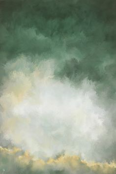 Green abstract decor Digital painting by Saatchi Art Artist Francesca Borgo Watercolor Landscape, Abstract Landscape, Landscape Paintings, Abstract Art, Abstract Digital Art, Digital Painting Tutorials, Arte Floral, Image Hd, Landscape Photography
