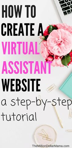 After writing about how to become a virtual administrative assistant, I've had a few people ask me how to create a virtual assistant website. Work From Home Jobs, Make Money From Home, How To Make Money, How To Become, Virtual Administrative Assistant, Virtual Assistant Services, Online Jobs, Making Ideas, Online Marketing