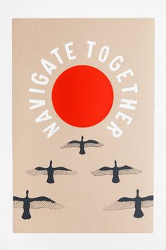 Navigate Together Poster Print Large Wall Art Bird by TheFarWoods