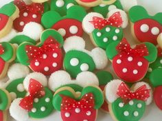 mouse christmas mini sugar cookies2 dozen by acookiejar on etsy 2795 mickey mouse cookiesdisney - Mickey Mouse Christmas Cookies