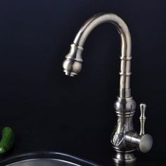 Bronze Single Handle Antique Kitchen Faucet (T1705)