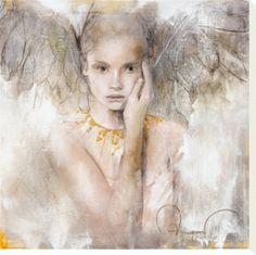 Printable Picture of Guardian Angel   ... Is Love Stretched Canvas Print by Elvira Amrhein at AllPosters.com