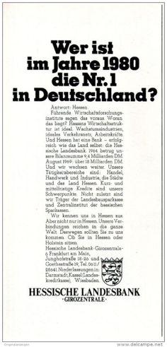 Original-Werbung/ Anzeige 1969 - HESSISCHE LANDESBANK - ca. 115 x 240 mm