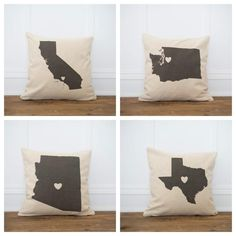 All about that hometown love! Perfect as a gift! Cozy up your living space with our handmade linen pillow covers by So Vintage Chic! // sovintagechic.com