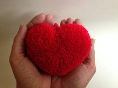 Red Pom Pom Heart