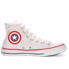 Tênis Capitão América All Star Converse Personalizado - R$ 179,09