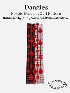 Bead Patterns Boutique - Dangles- Peyote Bracelet Cuff