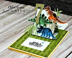 Just Add Ink Blog Hop, Pop Up slide card, Slider Card, Chloe Evans, Chlo's Craft Closet, Stampin' Up!, No Bones About It, Birthday, Boy, Male Birthday Card,