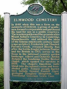 ELMWOOD CEMETERY DETROIT MI   elmwood cemetery contains michigan s oldest jewish cemetery from which ...