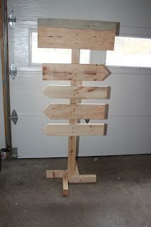 How to build a free-standing wooden sign
