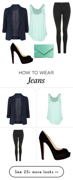 """Mint and Black"" by zeniboo on Polyvore"