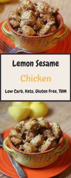 My Table of Three's Low Carb Lemon Sesame Chicken Pin