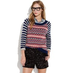 Madewell  North Isles Sweater item 56985 $85.00 A spirited spin on an old-school ski lodge favorite. Viscose/lambswool/nylon/angora/cashmere.