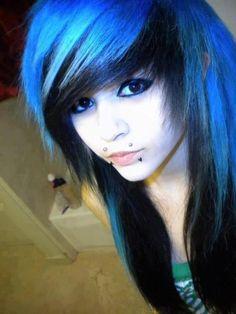 blue and black hair DOING IT.!! hopefully soon.!!!!!