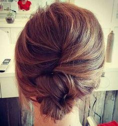 Wedding Hairstyles Medium Hair casual french twist for medium hair - Prom Hairstyles All Down, Haircuts For Long Hair, Long Hair Cuts, Up Hairstyles, Wedding Hairstyles, Wedding Updo, Layered Hairstyles, Beautiful Hairstyles, Elegant Hairstyles