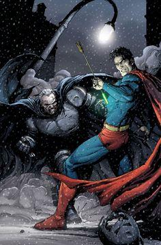 Batman v. Superman; Gary Frank variant, Dark Knight: Master Race #1.