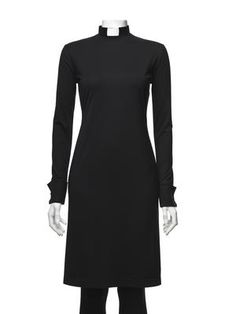 RAKEL klänning svart - Casual Priest - lovely clergy vestments for clergywomen. Includes collar.