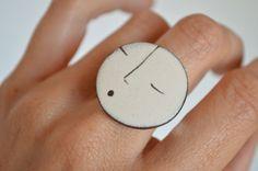 Ceramic ring. Ceramic jewelry by NoheShop on Etsy, €14.00