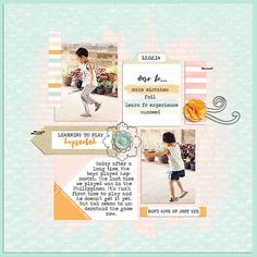 Digital scrapbook layout by Myau featuring Fearless Kit