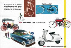 Publicité Vespa et autres véhicules