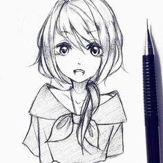 Simple anime drawings in pencil drawing pencil anime simple anime drawings girl drawing easy anime Best Anime Drawings, Pencil Drawings Of Girls, Anime Couples Drawings, Anime Sketch, Easy Drawings, Girl Drawing Easy, Girl Drawing Sketches, Girl Sketch, Manga Drawing