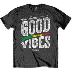 Bob Marley Stare Paint Stripe T-shirt noir XXL