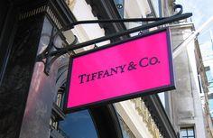 Hot pink & black Tiffany sign <3
