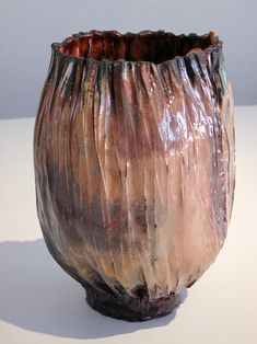 June Schwarcz Vessel 2496, 2013 Copper, enamel 6 X 6.5 X 8″